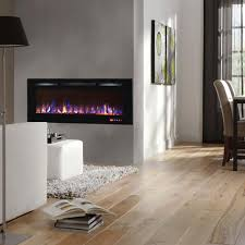 Wall Mounted Electric Fireplace Regal Flame 50 Inch Fusion Crystal Recessed Touch Screen Multi