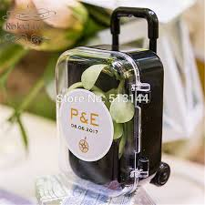 Suitcase Favors by Free Shipping 30pcs Acrylic Clear Mini Rolling Travel Suitcase