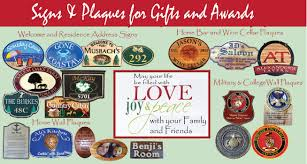 give a unique personalized gift a custom carved wood sign or plaque