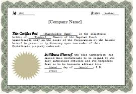 free stock certificate template word ms word stock certificate