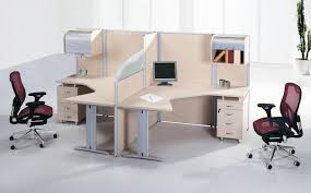 soft pink maple wood mixed silver metal double office desk with