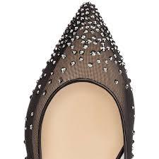 christian louboutin gwynitta 100mm black gomme women sandals