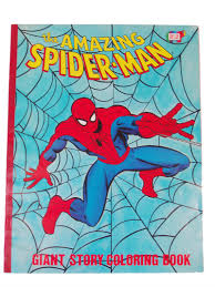 the amazing spider man giant story coloring book 1977 coloring