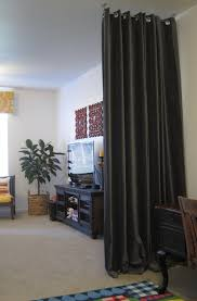 Room Curtain Dividers by Hanging Curtains From Ceiling As Room Divider Home Design Ideas
