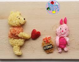 winnie pooh valentines food art bento