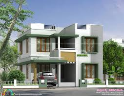 flat roof house plans kerala and wondrous for simple images good