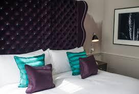 Wingback Tufted Headboard Purple Velvet Headboard Contemporary Bedroom The Ampersand Hotel