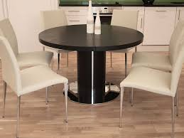 Black Extendable Dining Table Kitchen Chairs Dining Room Cool Black And White Dining Room