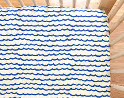 wave crib sheet etsy