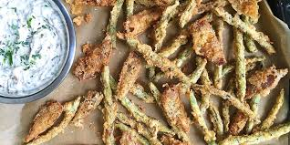 best fried green beans and onions with dip recipe