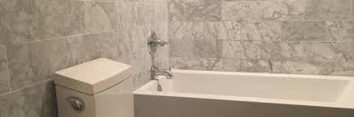 hall bathroom remodel with carrera marble emrichpro com