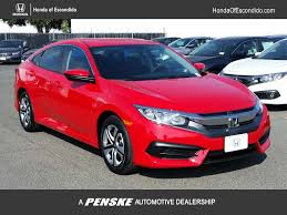 honda civic 2017 new honda civic sedan lx cvt at honda of escondido serving