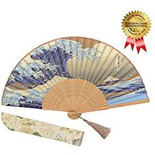 held fan omytea landscape 8 27 21cm folding held fan