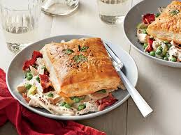 creamy chicken and bacon recipe with herbed puff pastry southern