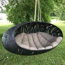 maffam zeppelin large modern garden swing seat chair by black