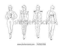 fashion sketch model stock vector 317032679 shutterstock