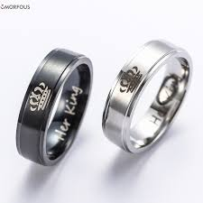 cool wedding rings images Black and blue wedding rings luxury chess piece laser engraved jpg