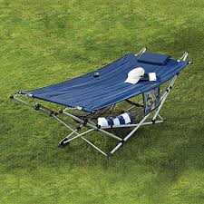 bliss hammocks ez stow lite folding hammock u0026 stand blue bed