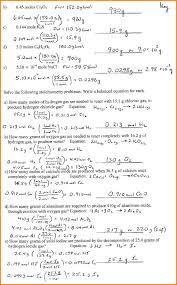 Stoichiometry Problems Worksheet Chemical Equations And Stoichiometry Worksheet Jennarocca