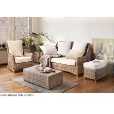 canape salon canapé 3 places en kubu rotin transat