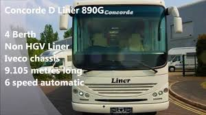 conorde d liner luxury motorhome with smart car garage youtube