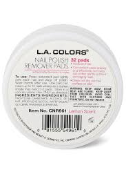 pack of 2 l a colors nail polish remover pads acetone free