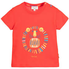 lion print smith junior baby boys red lion print t shirt petit outlet