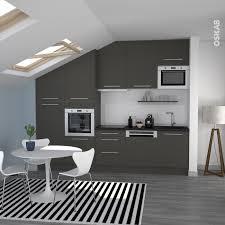 cuisine gris et noir cuisine grise porte effet touch ginko gris mat