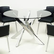 glass and chrome dining table round glass top chrome dining table overstock shopping great