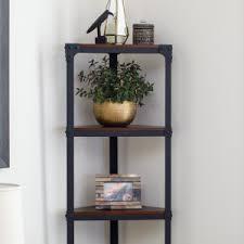 Iron Folding Bookcase Corner Bookcases On Hayneedle Bookshelves For Corners