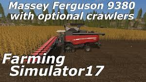 farming simulator 17 massey ferguson 9380 with optional crawlers