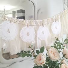 wedding backdrop letters 30 creative ways to use doilies at your wedding weddingomania