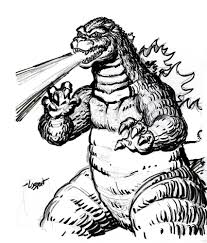 recreational break 10 godzilla coloring pages and pictures print
