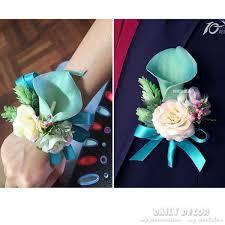 wedding flowers groom 2017 new blue calla wedding flowers wrist