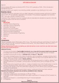 Sample Resume For Fresher Computer Science Engineer by Sample Resume For Mca Final Year Students