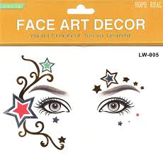 2pcs lot halloween henna tattoo star eye sticker face sticker