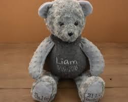 engraved teddy bears gray teddy etsy