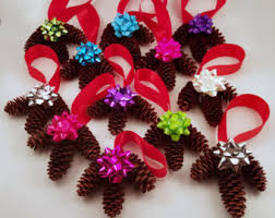 pinecone ornaments etsy