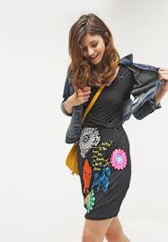 desigual designer desigual dresses outlet desigual iris jersey dress black