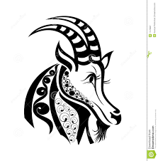 vector signs of zodiac capricorn tattoo design royalty free