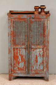 Vintage Storage Cabinets Great Rustic Storage Cabinets Bluered Vintage Indian Distressed