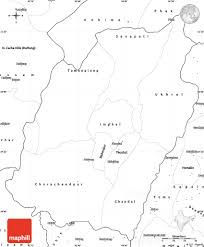 Empty Map Of Africa by Blank Simple Map Of Manipur