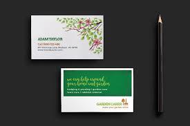 Biz Card Template Gardener Business Card Template Business Card Templates On