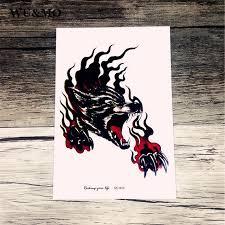 sc2910 large 3d sketch horrible howl wolf designs cool