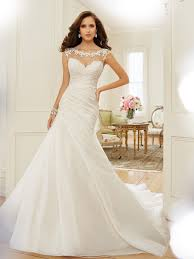 wedding dress 2015 a line wedding dress with bateau neckline