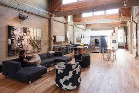 incredible open plan rustic loft meets modern furniture and inside