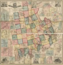 Washington County Map by Map Cabinet Maine An Encyclopedia