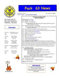 cub scout newsletter template search wolf cub scouts