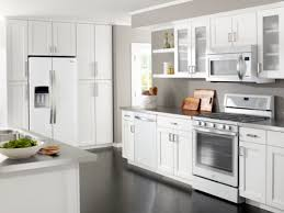 White Kitchen Cabinets And White Appliances by J U0026k Offers Whirlpool Kitchenaid Appliance Package