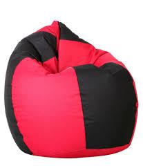 biggie cozy bean bag bucket chair std size brown filled